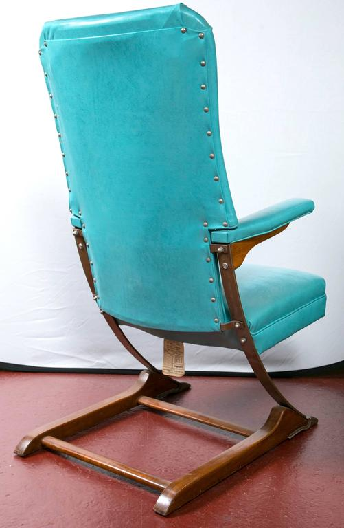 This Set of Six Blue Mid-Century McKay Spring Rocker Rocking Chair is ...