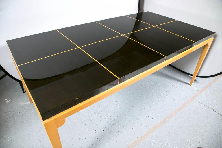 Tommi Parzinger Inlaid Dining Table at 1stdibs : IMG3957l from www.1stdibs.com size 768 x 512 jpeg 40kB