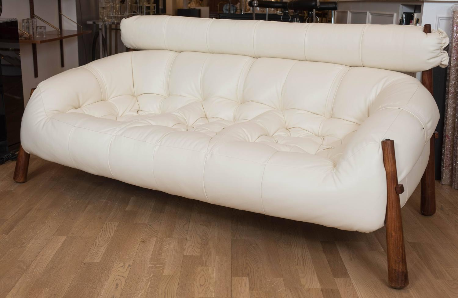 mid century modern leather sofa by percival lafer at 1stdibs
