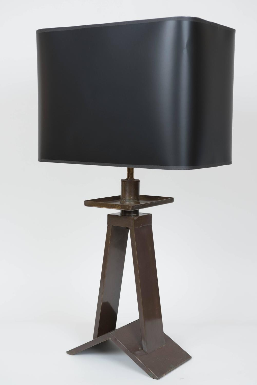Vintage bronze quotindustrialquot lamp usa circa 1940 at 1stdibs for Chair table lamp yonge st