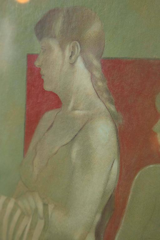 """20th Century Oil on Board by """"Santamaria"""" For Sale"""