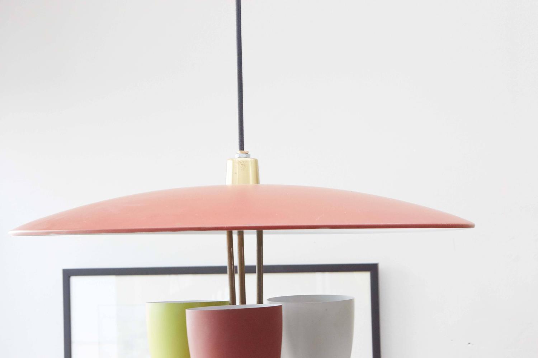mid century hanging light at 1stdibs. Black Bedroom Furniture Sets. Home Design Ideas