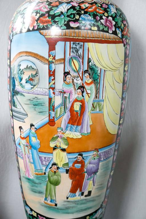 Large Pair of Chinese Porcelain Floor Vases For Sale 3