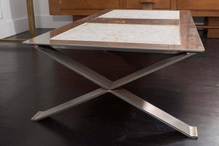 Stainless Steel and Ceramic Table For Sale 1