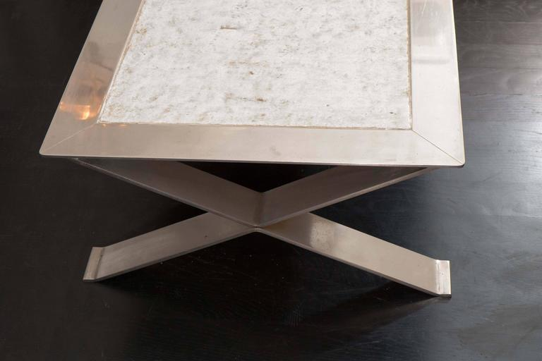 Stainless Steel and Ceramic Table For Sale 3