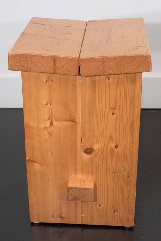 20th Century Pair of French Pine Stools For Sale