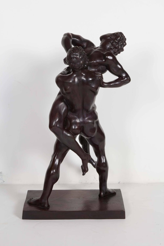 Original 19th century bronze sculpture of two wrestlers for Original sculptures for sale