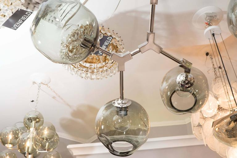 Organic Branch Globe Chandelier For Sale At 1stdibs