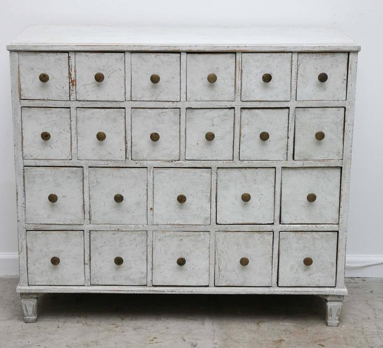 Completely new Swedish Antique Period Painted Apothecary Chest 19th Century at  GL06