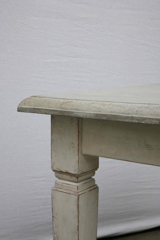 Antique Long Swedish Painted Dining Farm Table  Late 19th Century For Sale 1