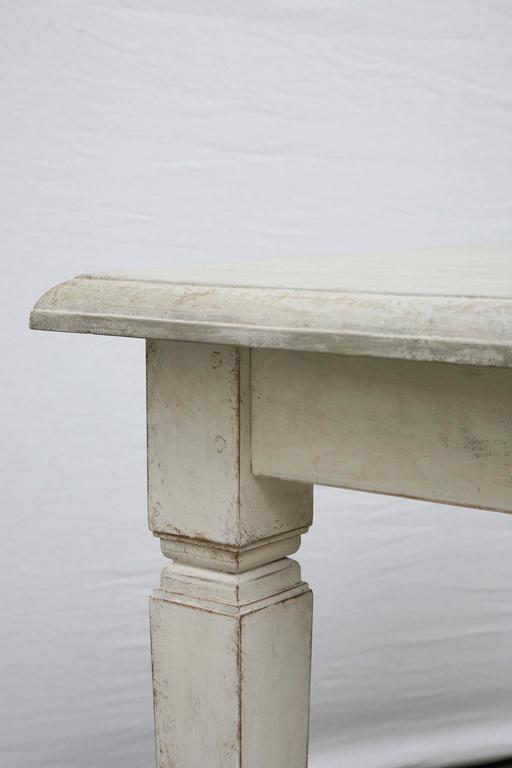 Antique Long Swedish Painted Dining Farm Table  Late 19th Century For Sale 2