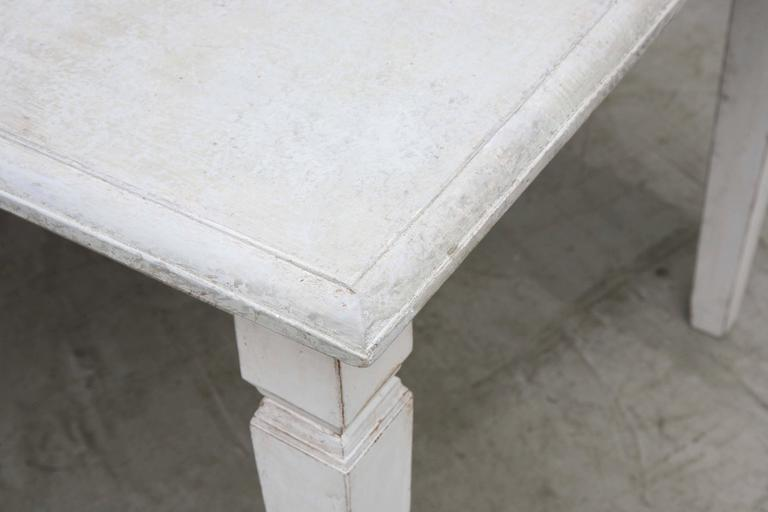 Antique Long Swedish Painted Dining Farm Table  Late 19th Century For Sale 3