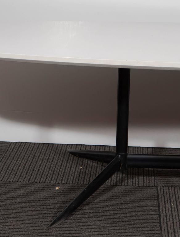 Eames Inspired 39 Sufboard 39 White Laminate Top Coffee Table For Sale At 1stdibs