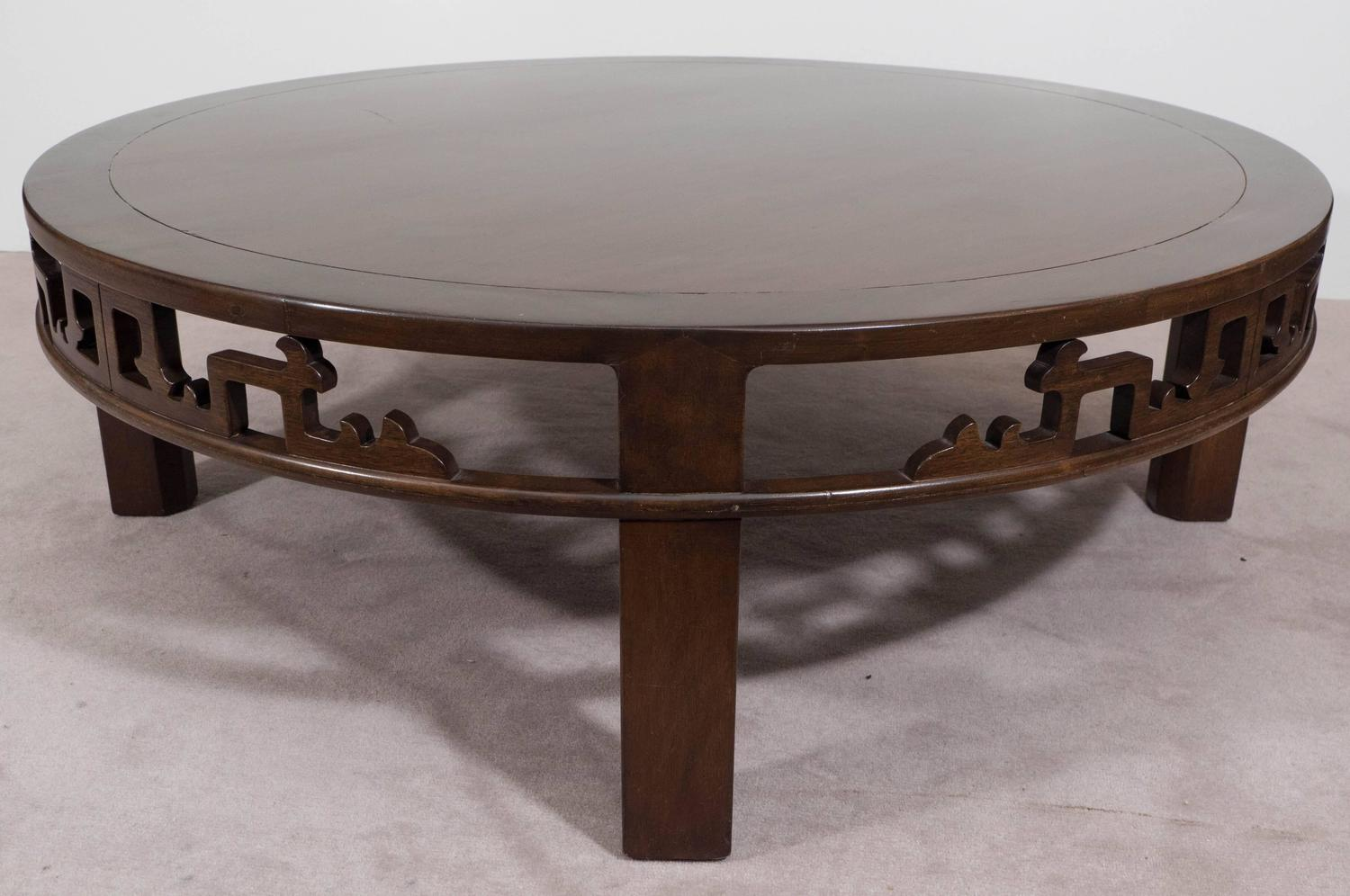 Baker Furniture Asian Inspired Round Coffee Table For Sale At 1stdibs