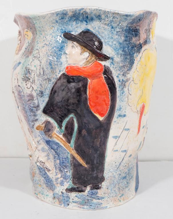 Michael Lawrence Art Pottery Vase And Planter At 1stdibs