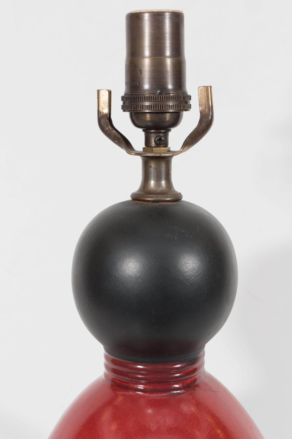 black glazed gourd lamps with red drip glaze for sale at 1stdibs. Black Bedroom Furniture Sets. Home Design Ideas