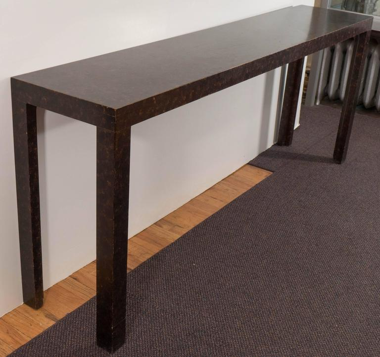 John Widdicomb Parsons Console Table With Faux