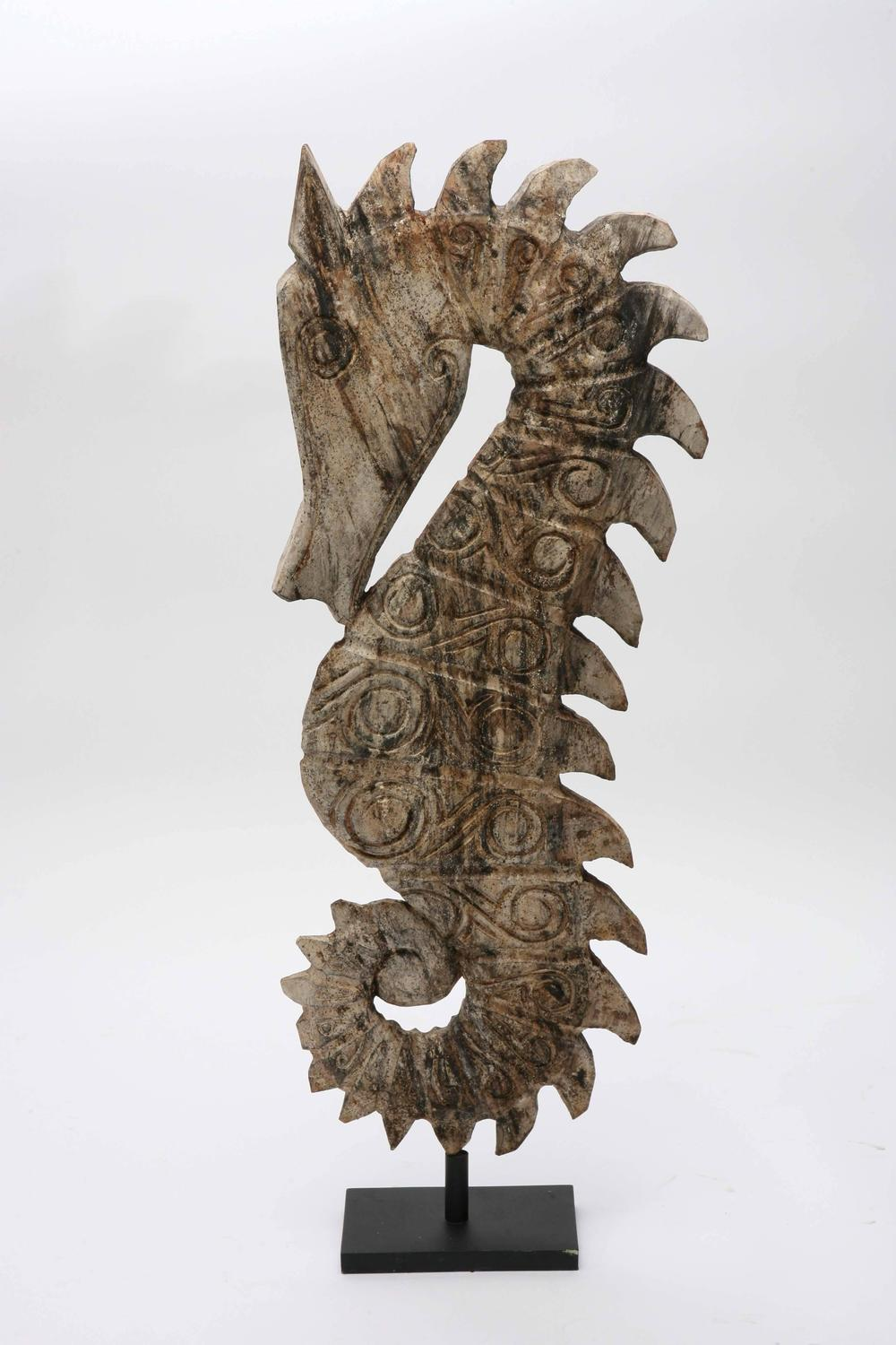 Seahorse Sculpture Wood Huge Handcarved By Artisan Java
