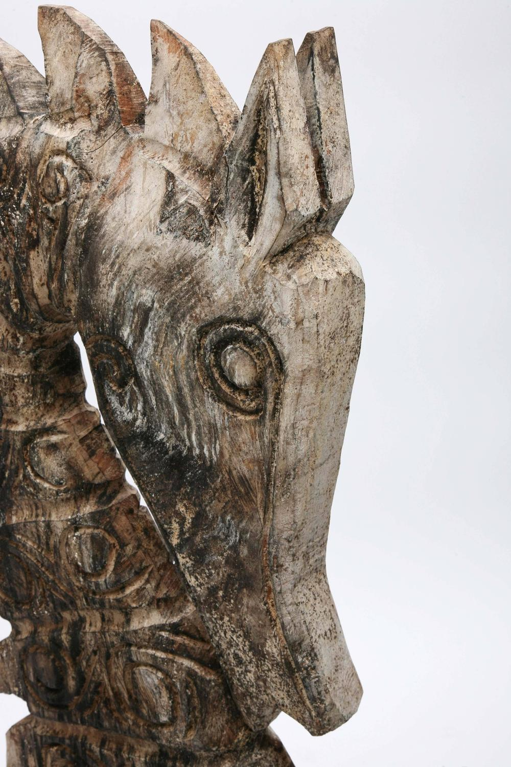 Seahorse Sculpture Wood Huge Handcarved By Artisan Java Indonesia Stunning For Sale At 1stdibs
