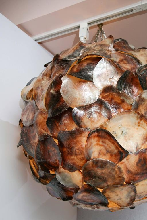 Contemporary Shell Hanging Lantern For Sale