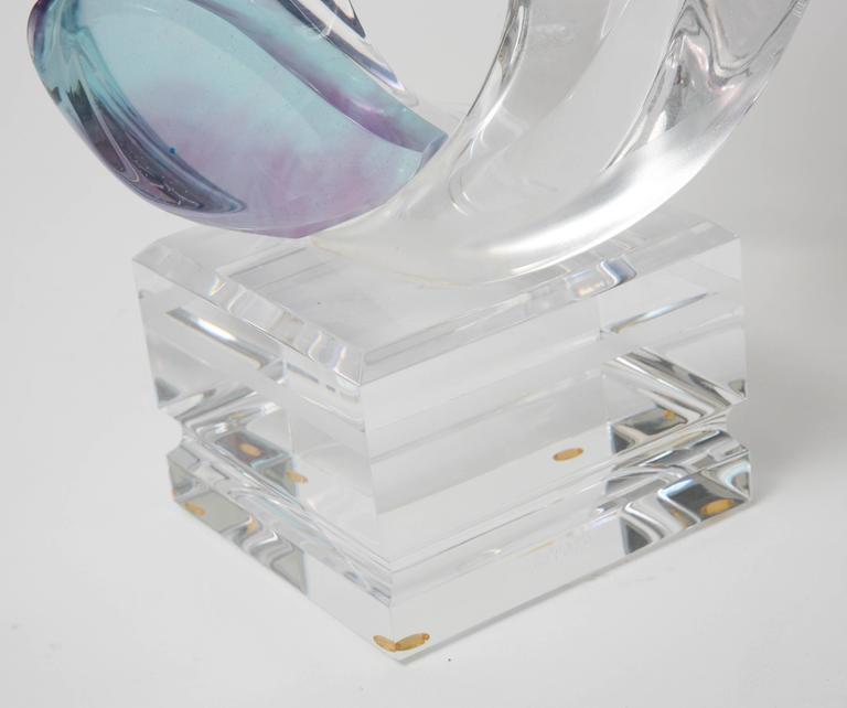 Unknown Multi-Colored Lucite Figural Sculpture of Two Lovers Embracing by Michael Bene For Sale