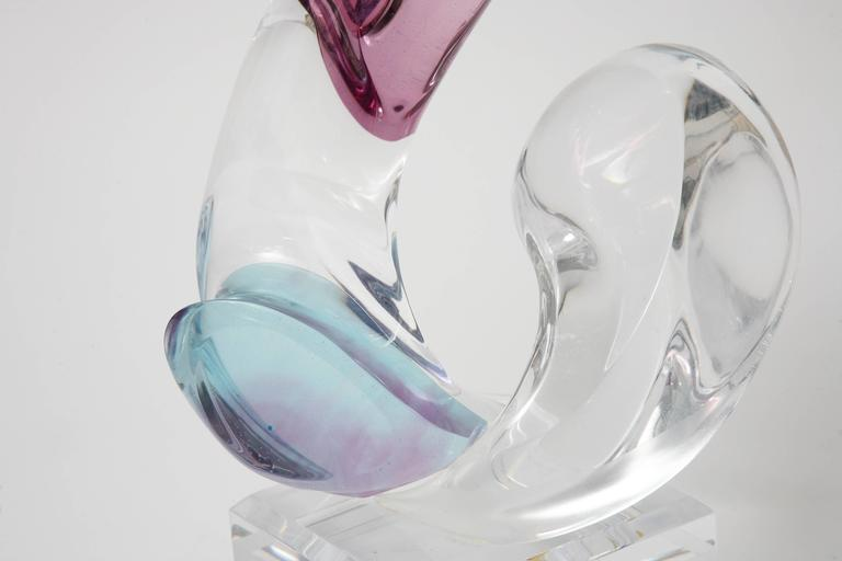 20th Century Multi-Colored Lucite Figural Sculpture of Two Lovers Embracing by Michael Bene For Sale
