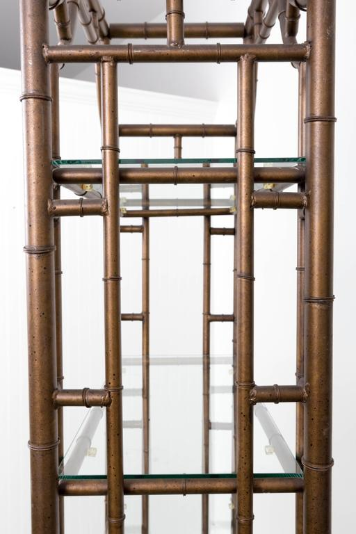 Chinese Chippendale Pagoda Style Faux Bamboo Etagere For Sale At 1stdibs