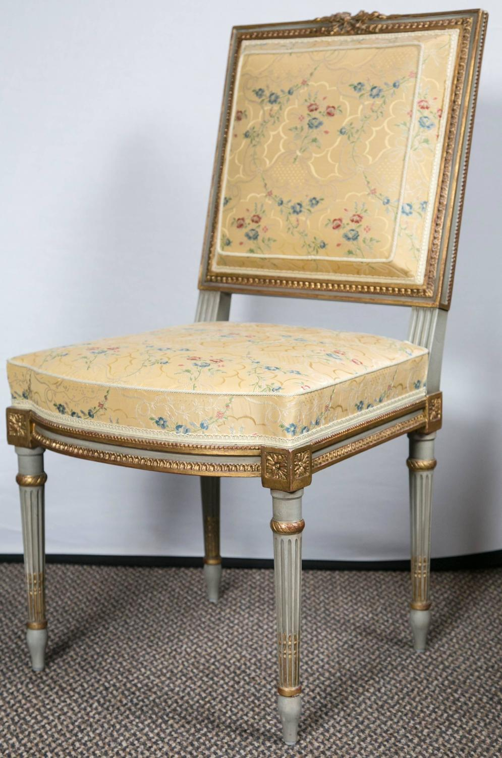 Set Of Six Maison Jansen Dining Side Chairs For Sale At 1stdibs
