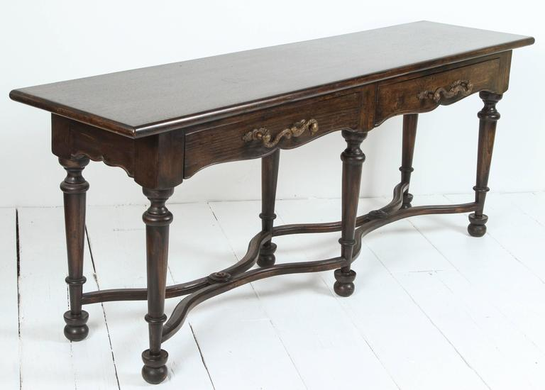 Console with Wrought Iron Handles For Sale 4