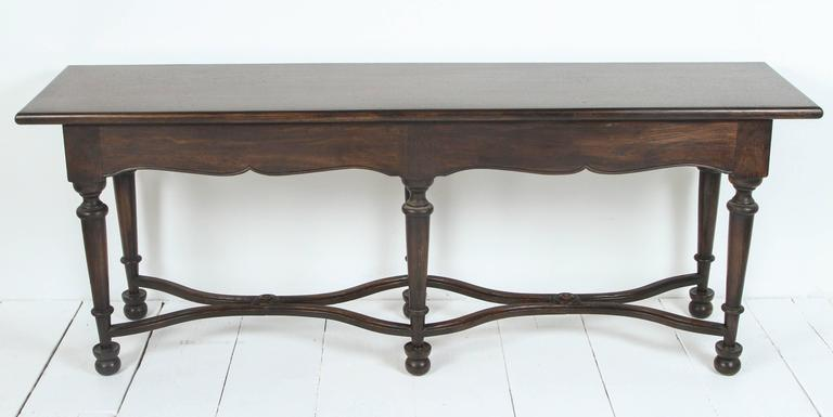 Console with Wrought Iron Handles For Sale 5