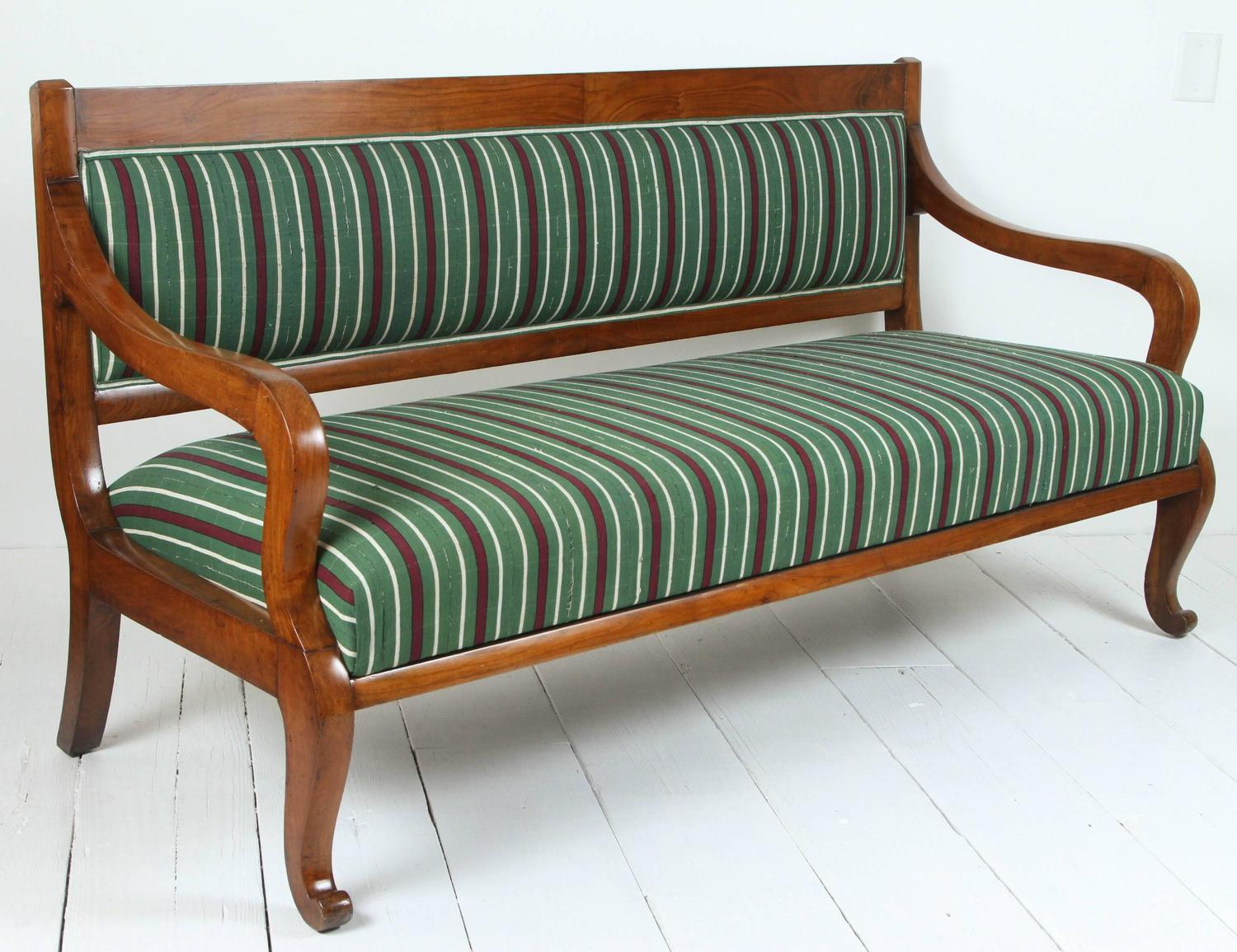 Italian Wood Bench Upholstered In Striped African Fabric For Sale At . Full resolution‎  image, nominally Width 1500 Height 1155 pixels, image with #733B1F.
