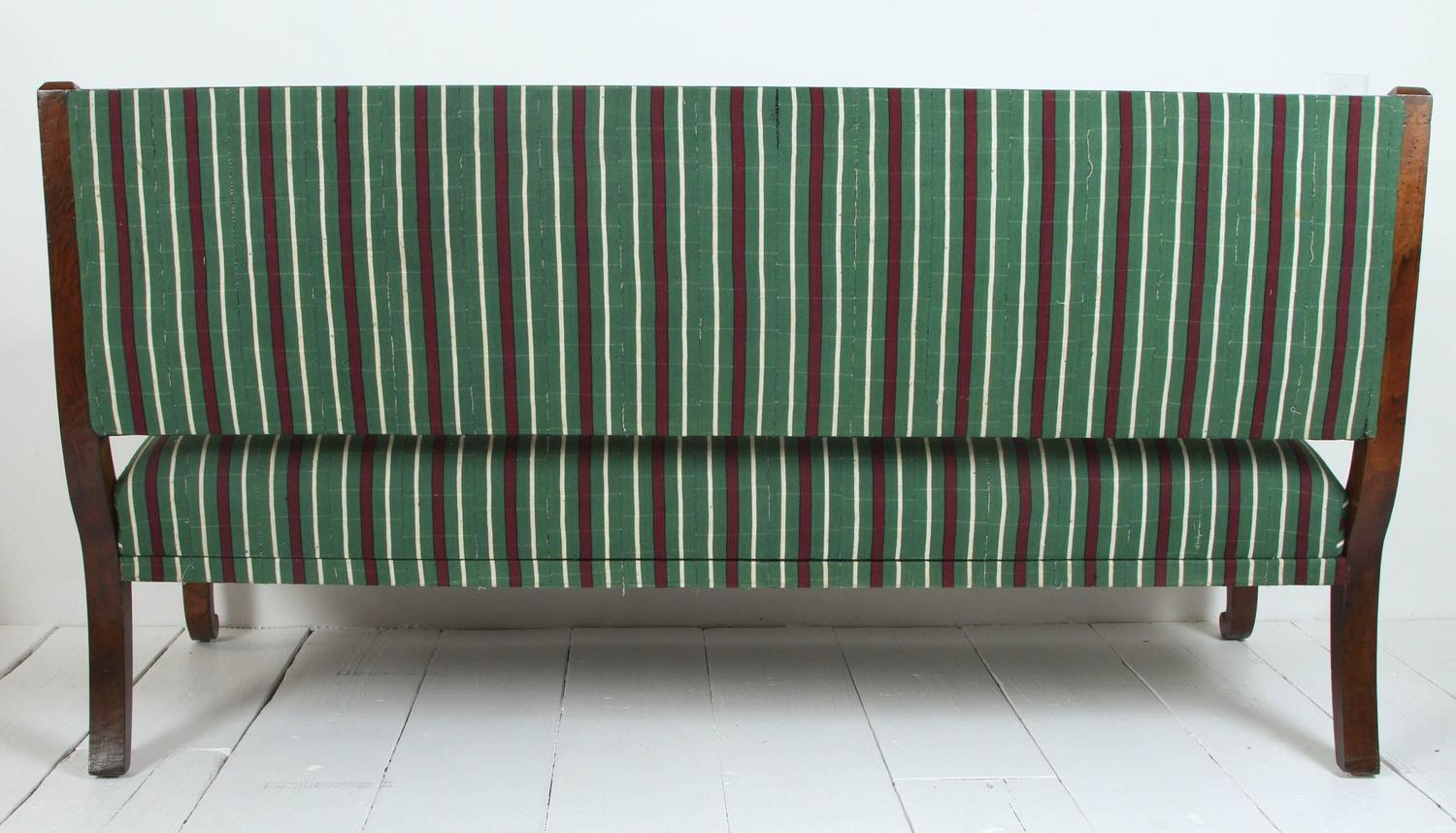 Italian Wood Bench Upholstered In Striped African Fabric For Sale At . Full resolution‎  image, nominally Width 1500 Height 858 pixels, image with #5E3032.