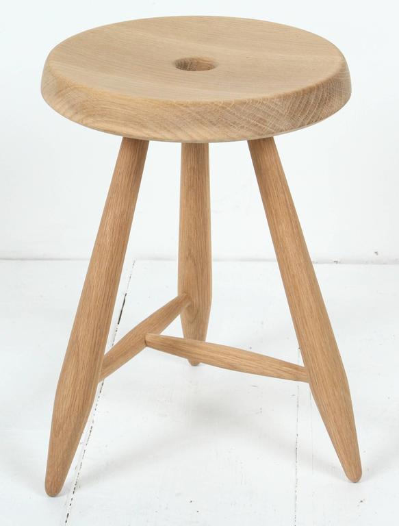 Sasaki White Oak Three Legged Stool 4