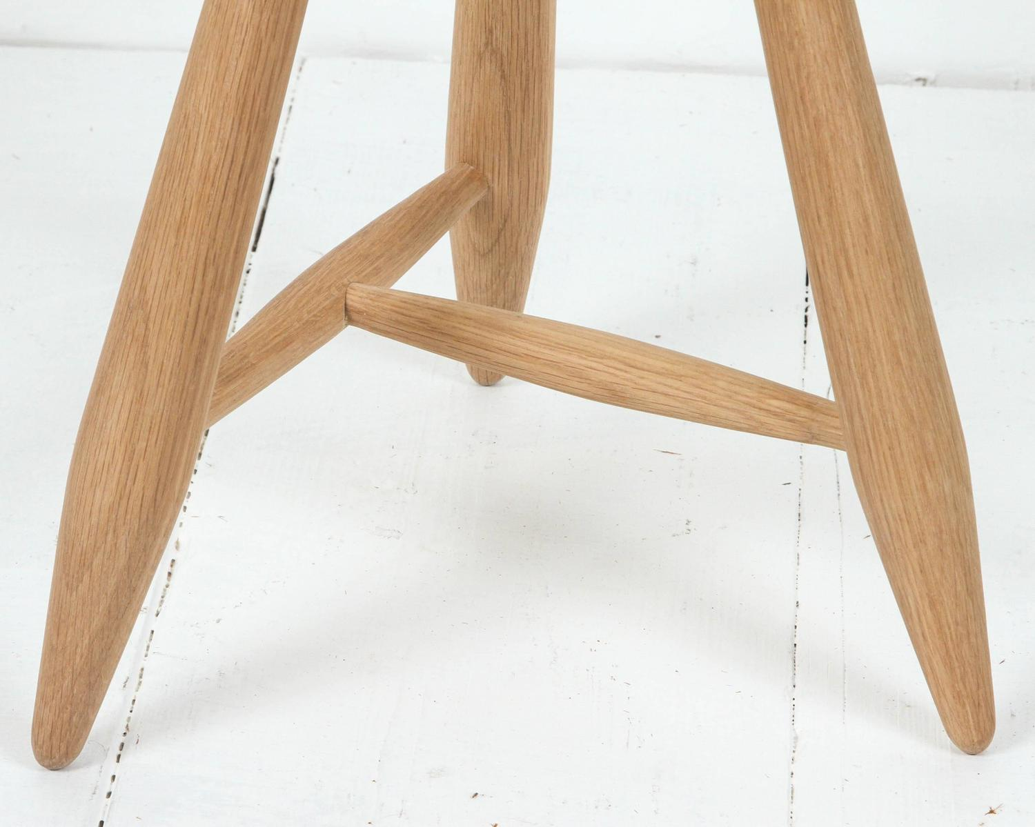 Sasaki White Oak Three Legged Stool For Sale At 1stdibs