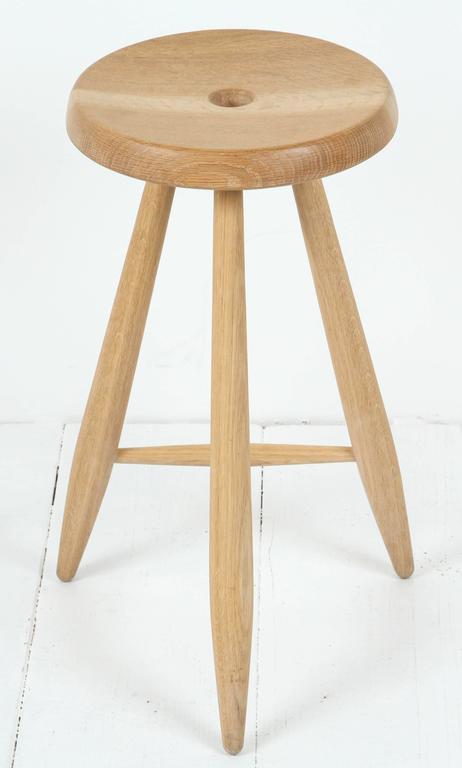 Sasaki White Oak Three Legged Stool 7