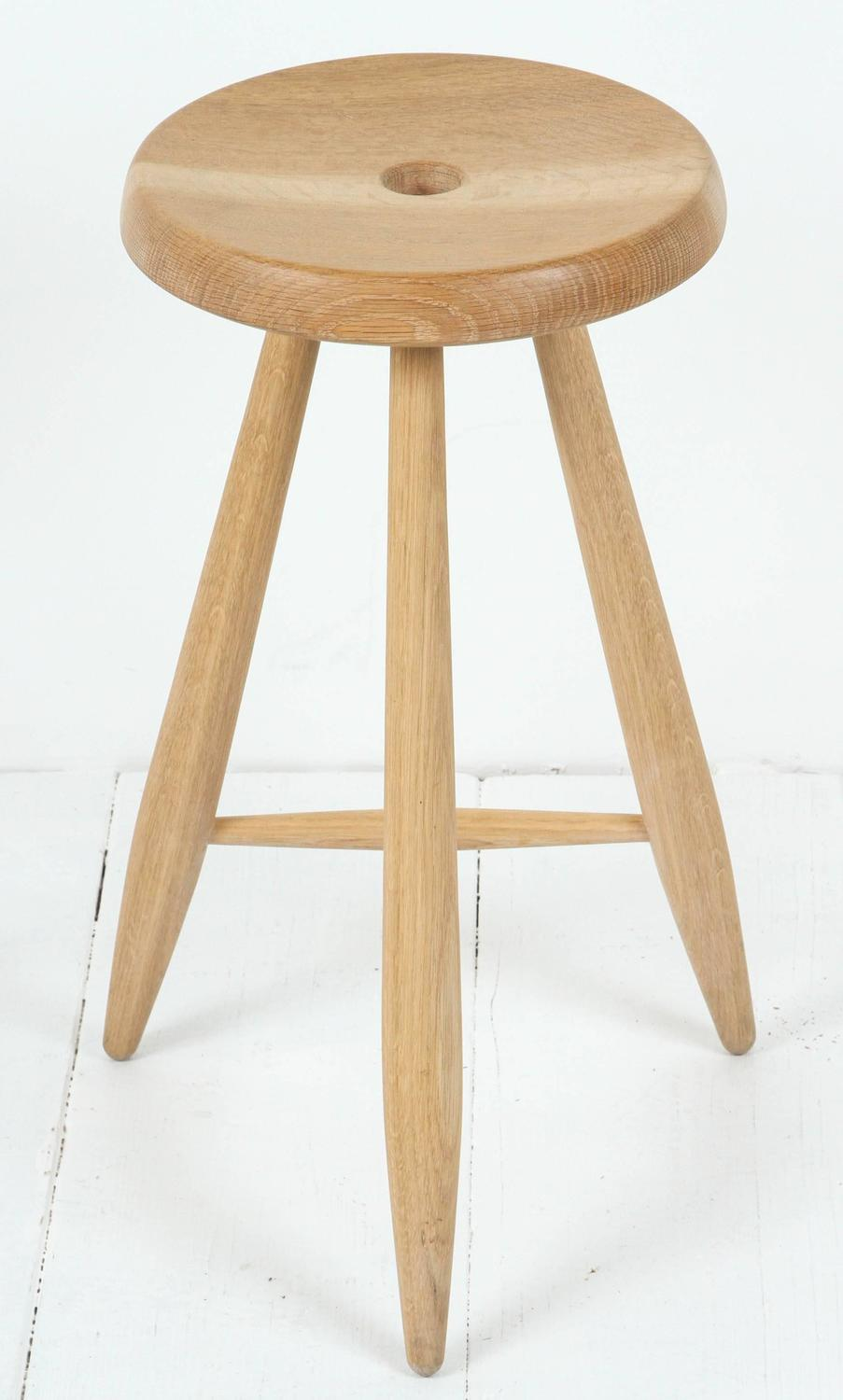 Three Legged Stool ~ Sasaki white oak three legged stool for sale at stdibs