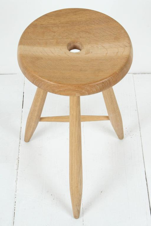 Sasaki White Oak Three Legged Stool 9