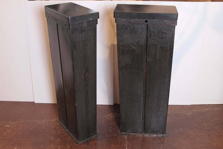 Used Display Tables ~ Industrial black display pedestal table quot h at stdibs