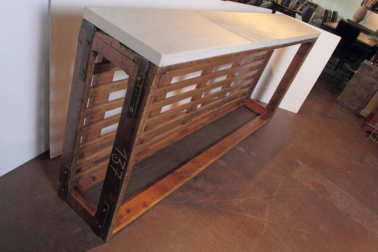 French Retro Tall Narrow Console Table At 1stdibs