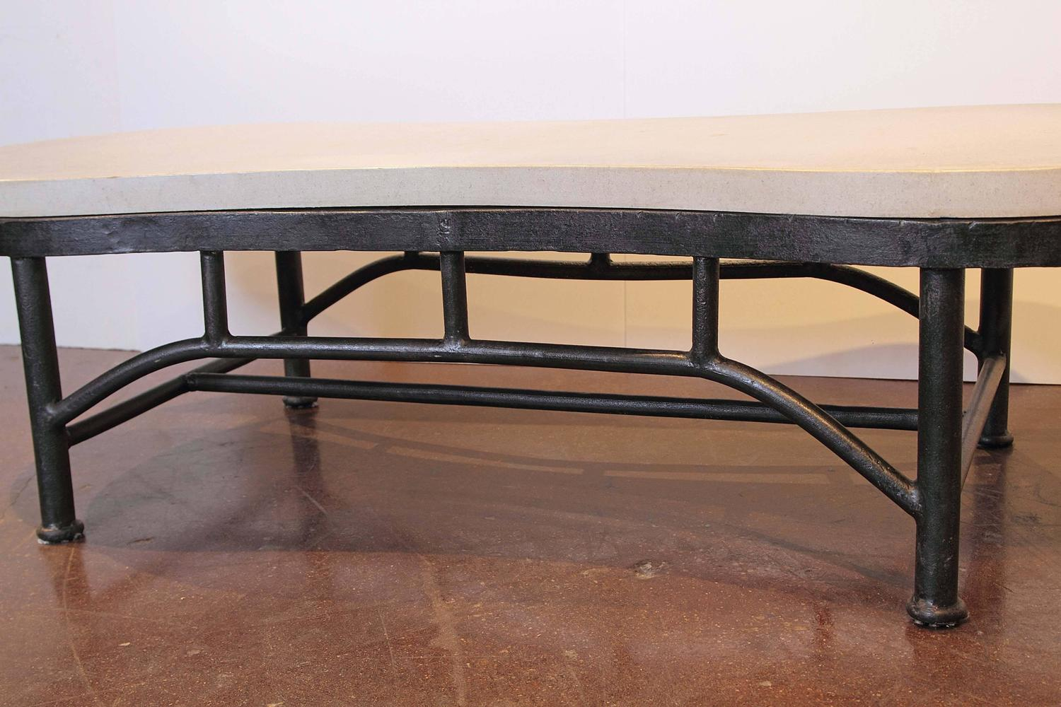 Modern rounded rectangle coffee table for sale at 1stdibs for Modern coffee table for sale