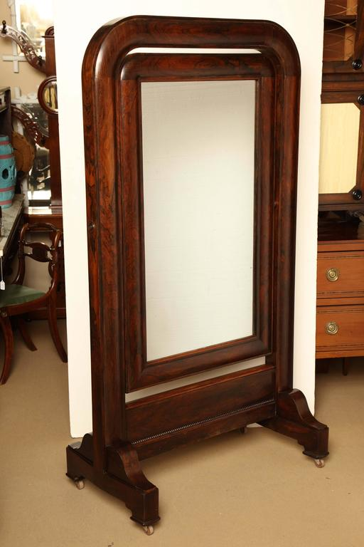Early 19th century English, William IV cheval mirror.