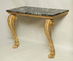 Irish Regency Giltwood Pier Table