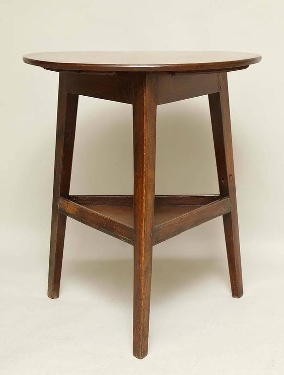 Arts and crafts period cricket table at 1stdibs for Arts and crafts cricket
