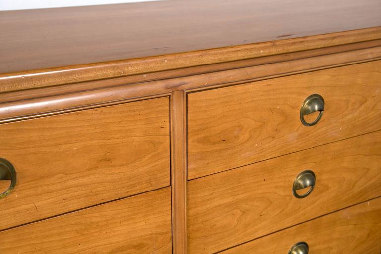 Mid-Century Modern Floating Custom Quality Nine-Drawer Dresser 6