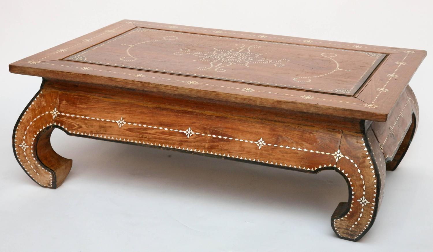 Superbly Inlaid Moroccan Coffee Table At 1stdibs