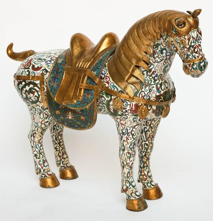 The figure is classically posed and fitted with a gilt metal saddle.