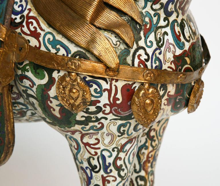 Enormous Cloisonné Figure of a Horse In Good Condition For Sale In West Palm Beach, FL