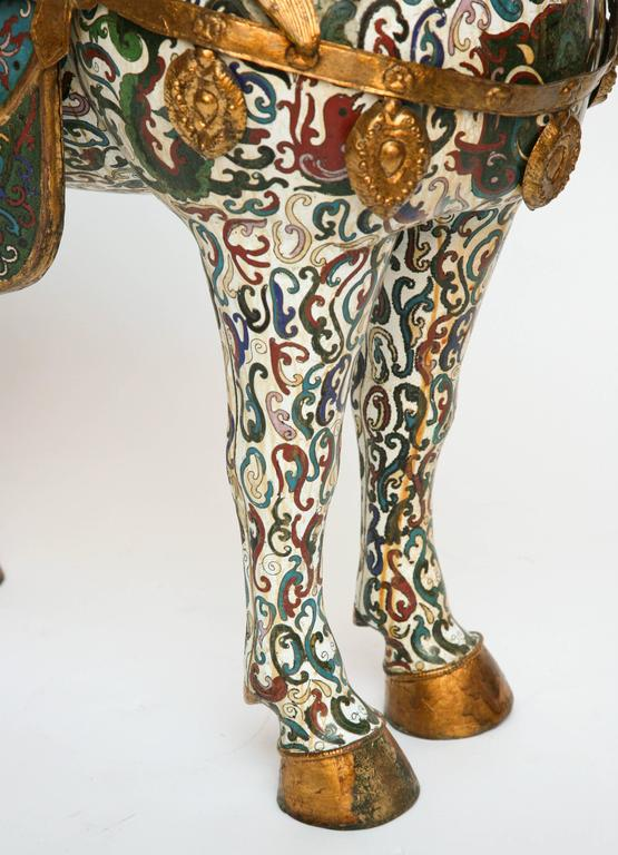 Enamel Enormous Cloisonné Figure of a Horse For Sale