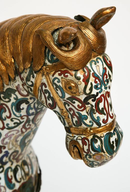 Enormous Cloisonné Figure of a Horse For Sale 1