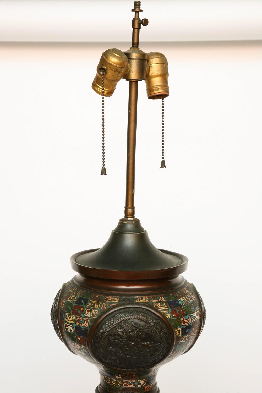 Superb Champleve Floor Lamp At 1stdibs